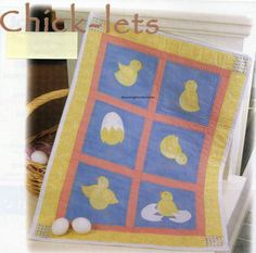 Chick-lets Quilt Pattern Pieced/Applique CF