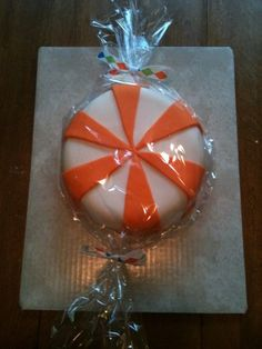 orange candy cake