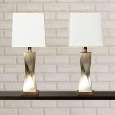 """Found it at AllModern - Brendan 31"""" H Table Lamp with Square Shade"""