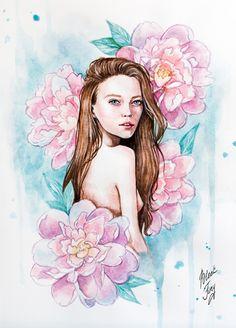 Flower nymph by BlackFurya on DeviantArt