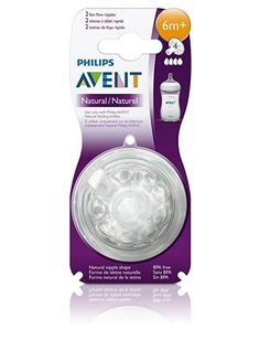 Philips Avent BPA Free Natural Fast Flow Nipples 2 Count #Avent