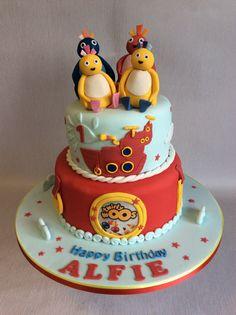2 tier Twirliwoos cake for Alfie
