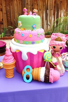 LalaLoopsy Birthday Party cake!  See more party ideas at CatchMyParty.com!