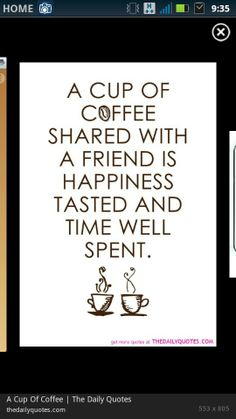 Could be a start for what your blog is all about. Happiness, friends, family, and of course, coffee. :)