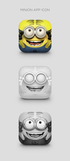 Minion App Icon by CreativeDash , via Behance