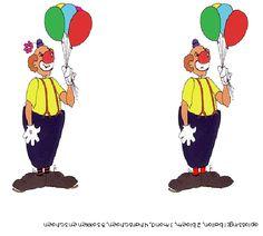 zoek de verschillen clown