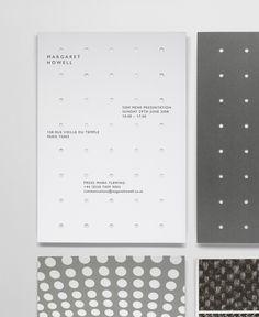 Margaraer Howell Black and White Presentation Print Design