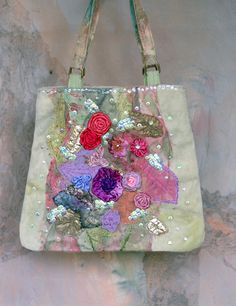 endless Summer ,  whimsy wearable art romantic purse