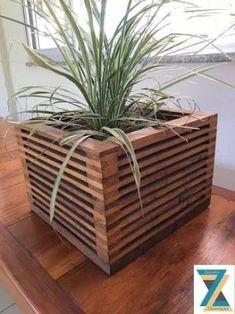 Resultado de imagem para cachepot de madeira