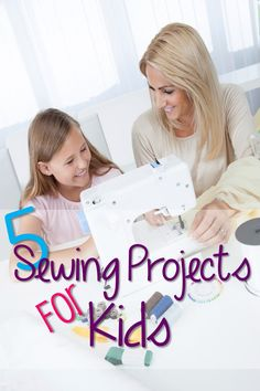 Growing up, I loved watching my mom sew. I loved when she would let me play with fabric scraps and get behind her sewing machine myself. Here are some fun,simple project ideas for kids that will ge...