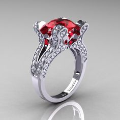 Like A Vampire Ring Engagement French Vintage