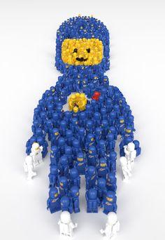 crazy creations made of Lego bricks Lego Machines, Lego Sculptures, Amazing Lego Creations, Lego People, Lego Craft, Lego Minifigs, Lego Photo, Lego Toys, Toddler Girls