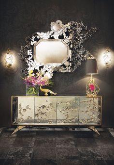 Spiegel: 25 elegante Reflexionen von atemberaubender Innenarchitektur > Spiegel an der Wand, Luxus im Projekt! | spiegel | elegant | innenarchitektur #einrichtungsideen #wohndesign # luxus Lesen Sie weiter: http://wohn-designtrend.de/spiegel-elegante-reflexionen-von-atemberaubender-innenarchitektur/