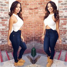 Dark Blue Classic High Waist Skinny Jeans