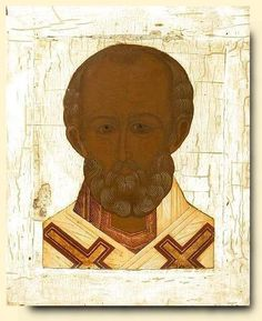 Saint Nicholas - exhibited at the Temple Gallery, specialists in Russian icons