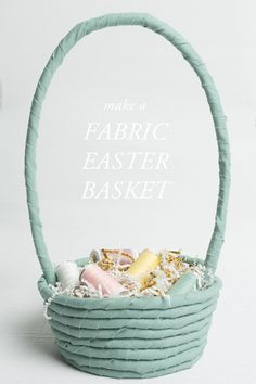 No-sew fabric rope Easter basket - The House That Lars Built