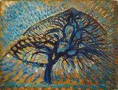 Piet Mondrian: Der blaue Baum.