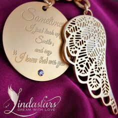 Commemorate the memories of your loved ones with Forever Close to Me key chain. This delicate key ring, accompanied with round pendant and adorned with a beautiful angel wing provides a subtle way to honor those memories of loved ones, yet they will hold a special place in our heart forever.