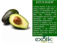 Aceite de Aguacate.  Avocado Oil.
