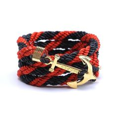 AlumniCrew Black/Red Are you ready to rock your school colors in authentic Alumni Crew Style? The Joseph Nogucci Alumni Crew Bracelet Collection has brought the ancient symbolism of nautical exploration and turned it into a fashion statement that says a lot about the adventurer in you and is designed to make a splash by letting you flaunt your school spirit. - See more at: http://www.josephnogucci.com/products/alumnicrew-blue-gold#sthash.3VjePkBK.dpuf