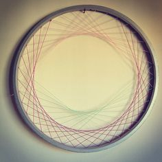 Recycled Bicycle Wheel Wall Art  Laced Woven Fiber by hardlyrobot, $68.00