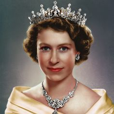 Bringing black and white pictures to life — Queen Elizabeth II. Young Queen Elizabeth, Princess Elizabeth, Windsor, Queen And Prince Phillip, Prinz Philip, English Royal Family, Royal Uk, Royal Tiaras, Isabel Ii