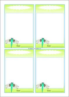Dragonfly-themed editable communication slips (SB10180) - SparkleBox