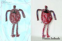 Menina Inclinada makes custom toys from children's drawings :)