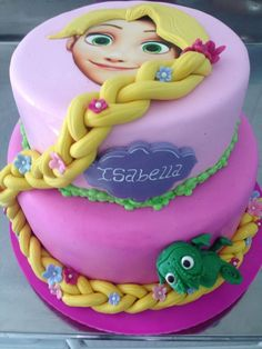 Excellent Photo of Rapunzel Birthday Cake . Rapunzel Birthday Cake Rapunzel Birthday Cake Id Rapunzel Torte, Bolo Rapunzel, Rapunzel Birthday Cake, 4th Birthday Cakes, Rapunzel Cake Ideas, Jasmine Birthday Cake, Disney Princess Birthday Cakes, Princess Cakes, Princess Rapunzel