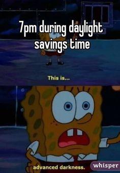 7pm during daylight savings time