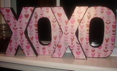 Valentines...use scrapbook paper and black paint.