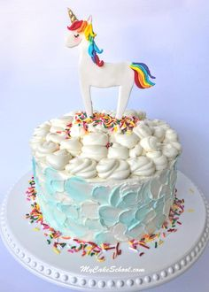 Learn how to make an adorable Unicorn Cake Topper in MyCakeSchool.com's free video tutorial!