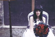 A Darkly Dramatic Gothic Wedding: Alix & Zach