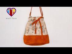 Bolsa sacola de tecido Melissa - Maria Adna Ateliê - Cursos e aulas de bolsas de tecido - YouTube