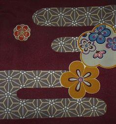 kimono motif stock photo - ume / plumblossom and kasumi / mist by SnowFoxStock, via Flickr