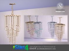 by SIMcredibledesigns.com Found in TSR Category 'Sims 4 Ceiling Lamps'
