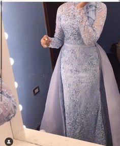 Hijab Prom Dress, Hijab Evening Dress, Hijab Style Dress, Muslim Wedding Dresses, Blue Wedding Dresses, Evening Dresses, Jumpsuit Hijab, Cute Dresses, Girls Dresses