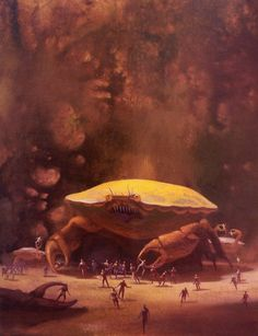 "Tales from Weirdland on Twitter: ""Paul Lehr illustration for the 1981 sci-fi story, THE CRAB.… """
