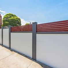 Modular Wall Systems: VogueWall™ modular wall fence with pillar detailing 8 of 12 Modern Farmhouse, Masonry Paint, Modern Farmhouse Exterior, Modern Garden, Wall Systems, Boundary Walls, Masonry Wall, Home Garden Design, Modular Walls