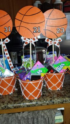 Basketball Buckets I made for our Sparks