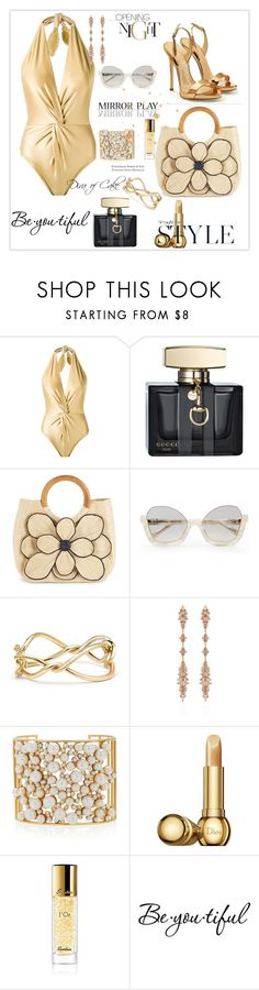 """""""Chic & Sexy  outfit  for tonight"""" by kercey ❤ liked on Polyvore featuring Martha Medeiros, Gucci, Mar y Sol, La Perla, David Yurman, Fernando Jorge, Nancy Newberg, Christian Dior, Guerlain and Schone"""