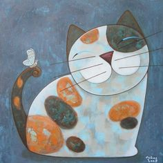 Pinzellades al món: Il·lustracions de Sittidech -Noi-: simpàtics gats