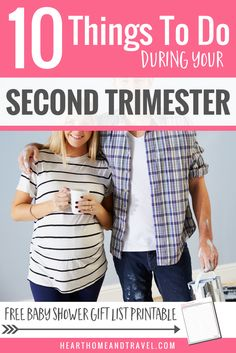 Are you entering your second trimester of pregnancy?  Check out this helpful list of 10 things to do during this exciting time to prepare for baby's arrival! via @hearthometravel * pregnant * new mom * first time mom * guide