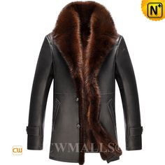 CWMALLS® Houston Fur Lined Leather Coat CW807617[Updated Styles 2017]
