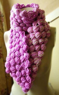 Ravelry: Walnut Stitch Cowl and Scarf pattern by Lynn Barrett-Smith.