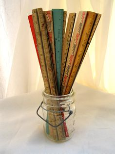 Vintage Ruler Set10AdvertisingSchoolDeskOffice from by tessiemay, $30.00