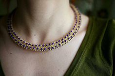 A personal favourite from my Etsy shop https://www.etsy.com/ie/listing/514759622/gold-statement-necklace-statement
