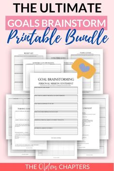Goals Worksheet, Goal Setting Worksheet, Goals Printable, Printable Planner, Printables, Goals Planner, Planner Pages, Smart Goal Setting, Personal Goal Setting