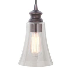 Worth Home Clear Glass Instant Pendant Light $42