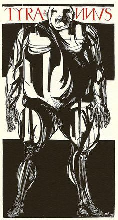 Tyrannus 1982 Leonard Baskin available at the R. Michelson Galleries.